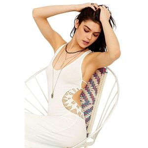 NWT! UO White Maxi Cutout Dress